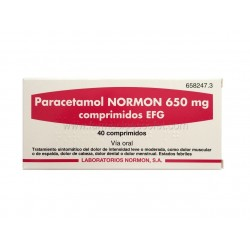 Paracetamol Normon 650 mg...