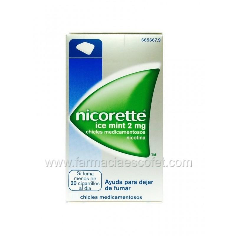 Nicorette 2 mg Ice Mint chicles