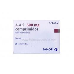 A A S 500 mg 20 comprimidos